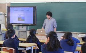 宝田小学校での授業の様子